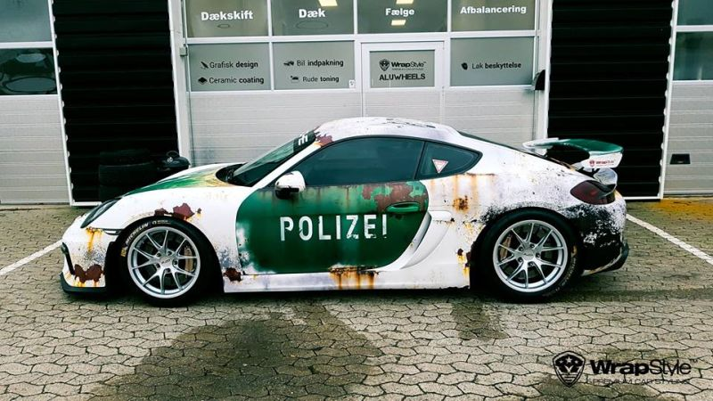 Ratlook-Polizei Folierung Tuning Porsche Cayman GT4  981 (5)