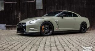 Satin Khaki Green Nissan GT R Folierung Tuning 22 1 310x165 Ford Mustang in Diamond White by SchwabenFolia CarWrapping