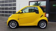 Smart Cabrio Matte Bright Yellow Folienwerk NRW 3 190x107 Fotostory: Smart Cabrio in Matte Bright Yellow by Folienwerk NRW