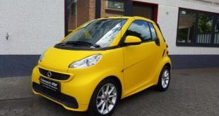 Smart Cabrio Matte Bright Yellow Folienwerk NRW 6 1 e1472721540172 310x165 Fotostory: Smart Cabrio in Matte Bright Yellow by Folienwerk NRW