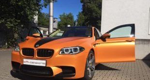 Sunrise Orange BMW M5 F10 Folierung 1 1 e1474365084131 310x165 Schicker Style   Porsche 991 Turbo S in Stone Grey Gloss