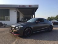 Tuning Mercedes AMG C63 S Coup%C3%A9 Satin Pearl Nero 1 190x143 Dezentes Kleid   Mercedes AMG C63 S Coupé in Satin Pearl Nero