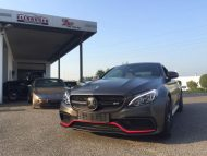 Tuning Mercedes AMG C63 S Coupé Satin Pearl Nero 2 190x143 Dezentes Kleid   Mercedes AMG C63 S Coupé in Satin Pearl Nero
