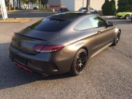 Tuning Mercedes AMG C63 S Coupé Satin Pearl Nero 6 190x143 Dezentes Kleid   Mercedes AMG C63 S Coupé in Satin Pearl Nero