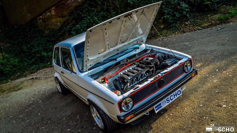 Tuning VW Golf 1 MK1 BBS KW (8)
