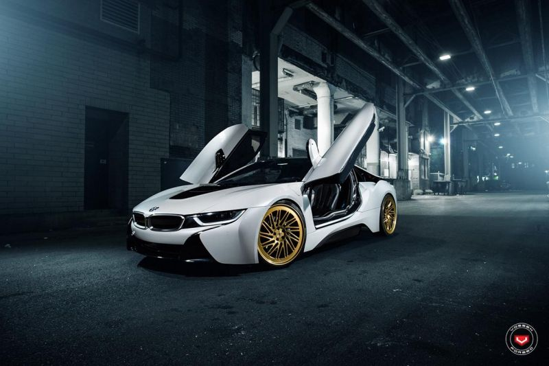 Conspicuous Vossen Wheels Lc 105t Alloy Wheels On The Bmw I8