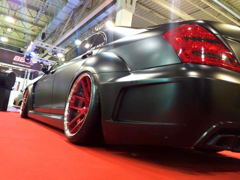 Widebody Mercedes S-Klasse W221 Tuning Livani Wheels (13)