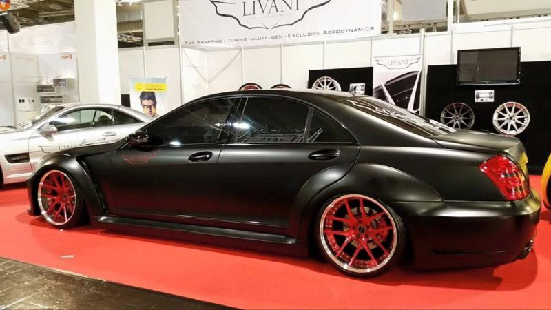 Widebody Mercedes S-Klasse W221 Tuning Livani Wheels (17)