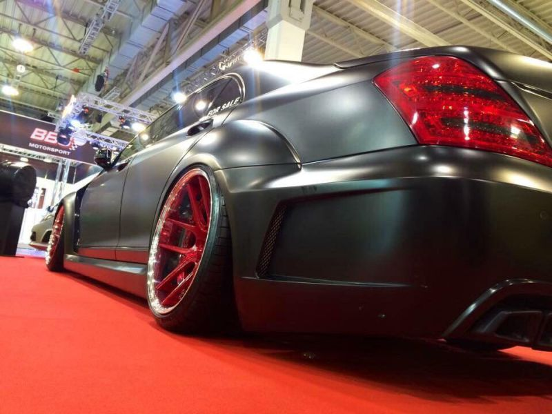Widebody Mercedes S-Klasse W221 Tuning Livani Wheels (9)
