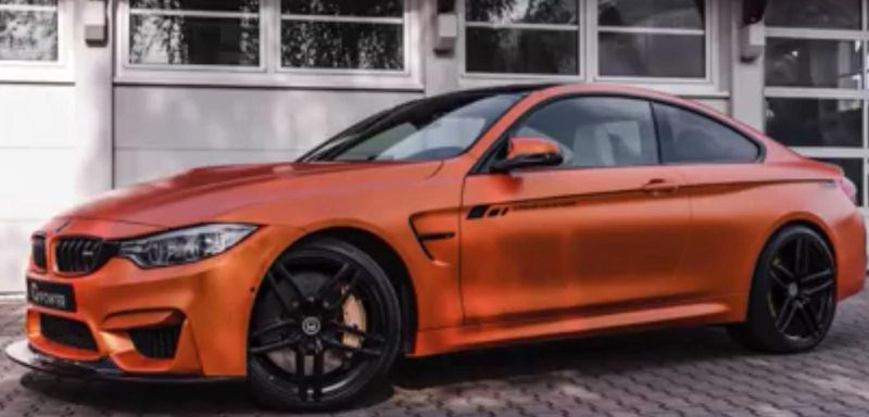 orange G Power BMW M4 F82 tuning Video: Verwandlung   BMW M4 F82 von Weiß zum G Power Orange