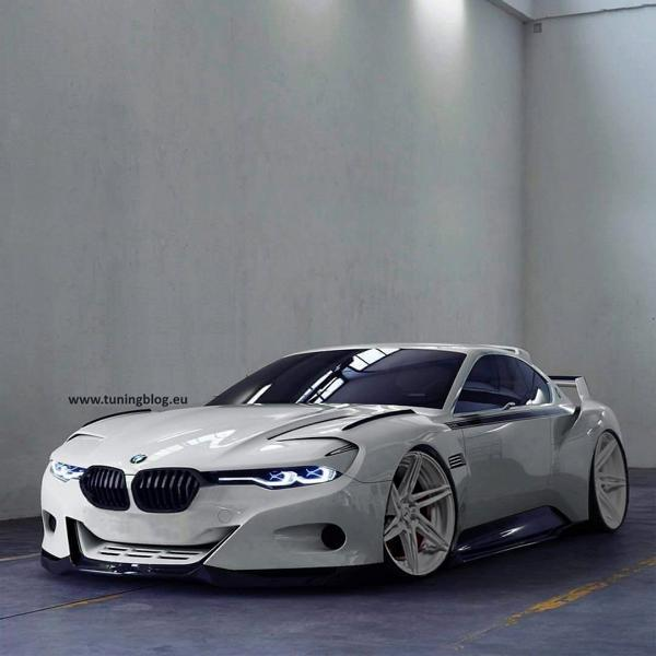 tuningblog Hommage BMW CSL Tuning Rendering: BMW CSL Hommage Widebody by tuningblog.eu