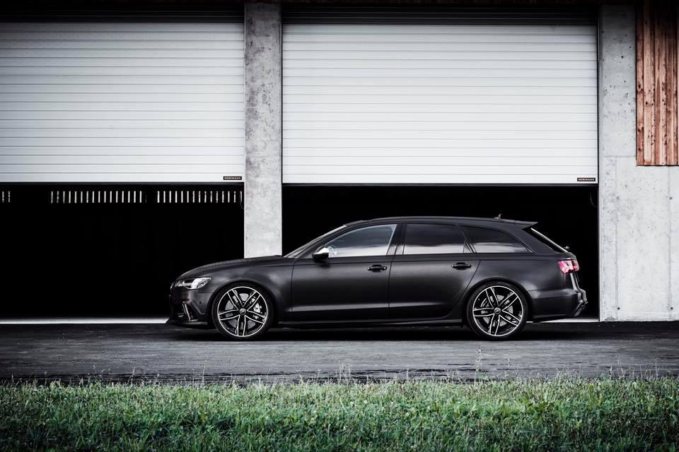 2016 Audi RS6 Avant C7 black brush folierung mattschwarz 1 2016er Audi RS6 Avant C7 in mattschwarz by BlackBox Richter