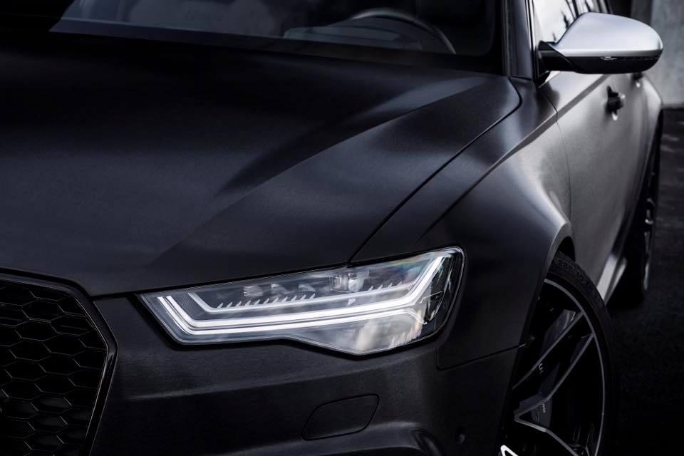 2016 Audi RS6 Avant C7 black brush folierung mattschwarz 2 2016er Audi RS6 Avant C7 in mattschwarz by BlackBox Richter