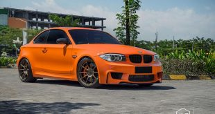 BMW 135i E82 Coupe Rays ZE40 1M Tuning 14 310x165 BMW E82 1er (135i) mit Clinched Widebody Kit & SevenK Wheels