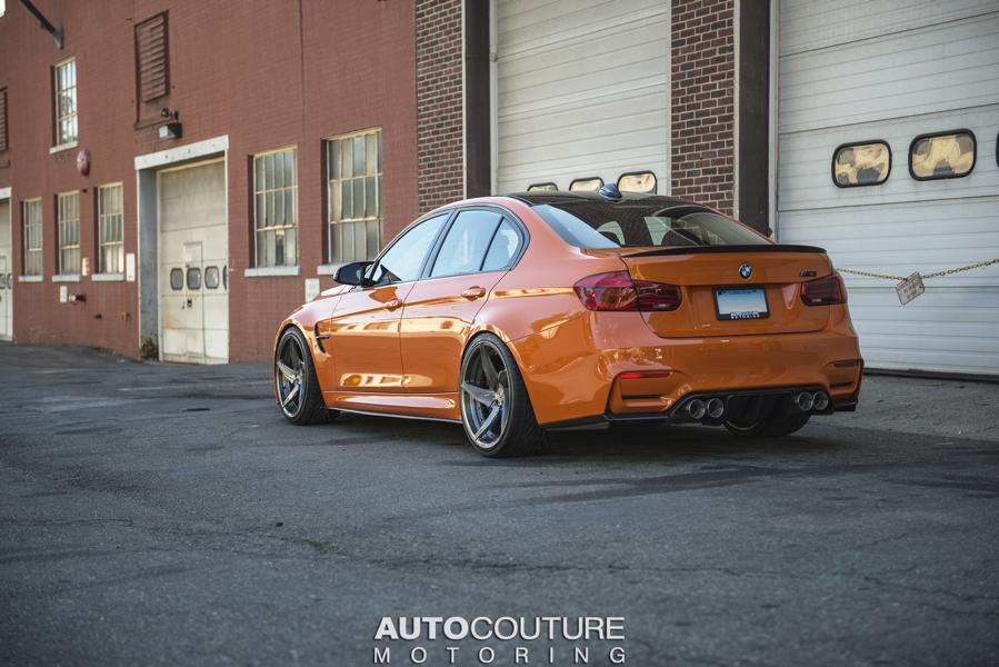 BMW F80 M3 Fire Orange Velos D5 tuning 1 AUTOcouture Motoring BMW F80 M3 in Fire Orange auf Velos Alu's