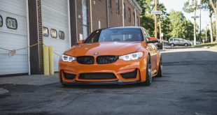 BMW F80 M3 Fire Orange Velos D5 tuning 2 310x165 AUTOcouture Motoring BMW F80 M3 in Fire Orange auf Velos Alu's