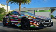 BMW i8 Jeff Koons Art Car tuning 1 190x111 Fotostory: BMW i8 im Jeff Koons Art Car Style by Metro Wrapz