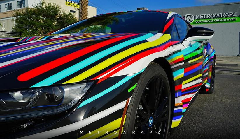 BMW i8 Jeff Koons Art Car tuning 3 Fotostory: BMW i8 im Jeff Koons Art Car Style by Metro Wrapz