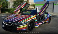 BMW i8 Jeff Koons Art Car tuning 9 190x111 Fotostory: BMW i8 im Jeff Koons Art Car Style by Metro Wrapz