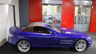 Brabus Mercedes Benz SLR Roadster Royal Blue Tuning 6 190x107 Fotostory: Brabus Mercedes Benz SLR Roadster in Royal Blue
