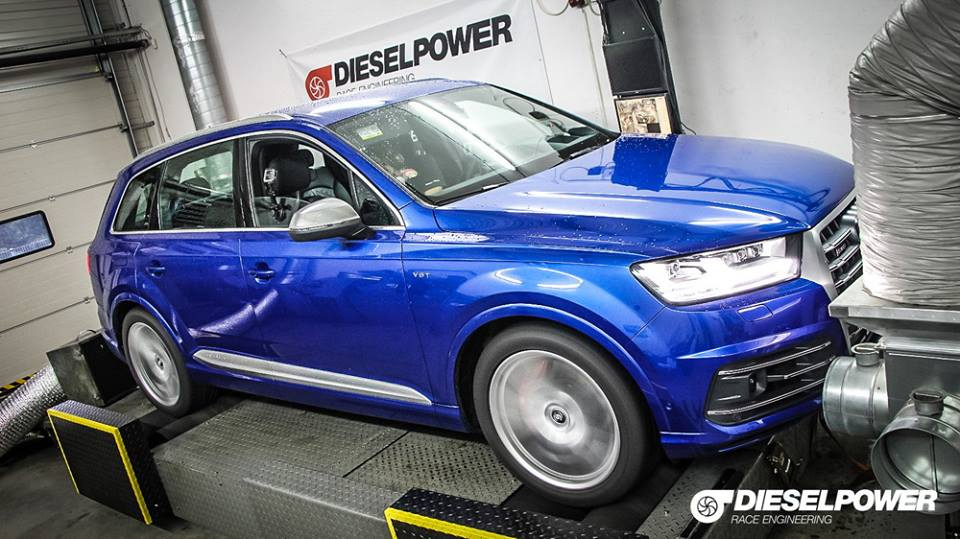 Dieselpower Chiptuning Audi SQ7 TDI 4M 6 Video: 473PS & 945NM im Dieselpower Audi SQ7 TDI