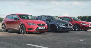 Dragrace SEAT Leon Cupra VW Golf GTi Honda Civic Type R 5 310x165 Video: Dragrace   SEAT Leon Cupra, VW Golf GTi & Honda Civic Type R
