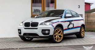 Folierung BMW X6 E71 Tuning 7 310x165 Neuer Look   Mitsubishi EVO X im Puddle of Racing Design
