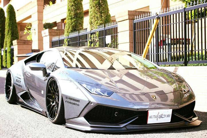 Forgiato Liberty Walk Lamborghini Huracan Widebody 1 Extrem fett   Liberty Walk Lamborghini Huracan auf Forgiato Wheels
