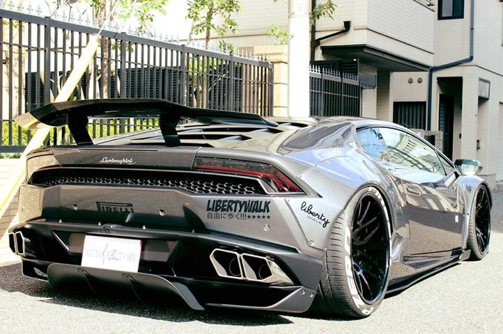 Forgiato Liberty Walk Lamborghini Huracan Widebody 8 Extrem fett   Liberty Walk Lamborghini Huracan auf Forgiato Wheels