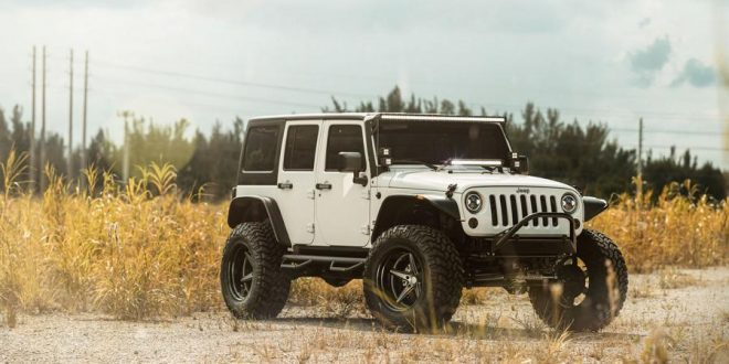 Riesiges Offroad Monster – Jeep Wrangler auf Vossen X Work Alu's