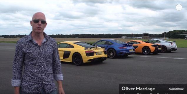 Video: Ultimativ – McLaren 570S vs. Porsche 911 Turbo S vs. Audi R8 vs. Nissan GT-R