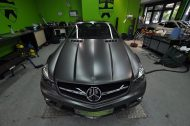 Mercedes SL63 AMG Satin grey metallic matt Folierung 5 190x126 Print Tech   Folierungen an Golf, GT3 RS, RSQ3 & SL55 AMG & Co.