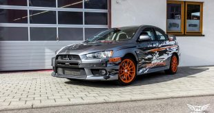 Mitsubishi EVO X Puddle of Racing Design Folierung 1 310x165 Neuer Look Mitsubishi EVO X im Puddle of Racing Design