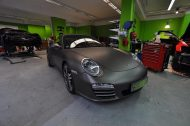 Porsche 997 4S charocal metallic matt Folierung 8 190x126 Print Tech   Folierungen an Golf, GT3 RS, RSQ3 & SL55 AMG & Co.