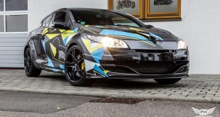 Renault Megane RS 2.0 Turbo Folierung Tuning 1 310x165 Neuer Look   Mitsubishi EVO X im Puddle of Racing Design