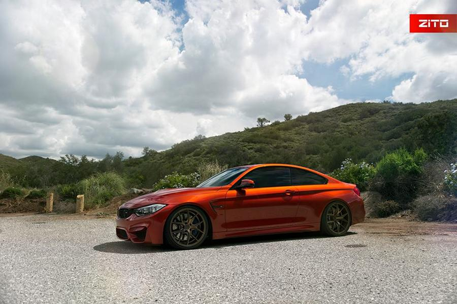 Sakhir Orange BMW M4 F82 Zito Wheels ZS05 2 Sakhir Orange lackierter BMW M4 F82 auf Zito Wheels ZS05