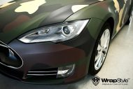 Tesla Model S Camouflage Design Tuning 2 190x127 Tesla Model S im Camouflage Design by WrapStyle Denmark