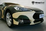 Tesla Model S Camouflage Design Tuning 4 190x127 Tesla Model S im Camouflage Design by WrapStyle Denmark