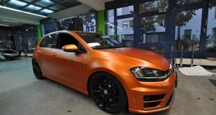 VW GOLF R MK7 Satin Canyon Copper Orange matt Tuning 5 310x165 Print Tech   Folierungen an Golf, GT3 RS, RSQ3 & SL55 AMG & Co.