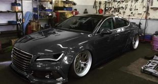 Widebody Audi A7 RS7 in Schwarz 1 310x165 Tiefer Audi R8 V10 mit FlipFlop Folierung by tuningblog.eu
