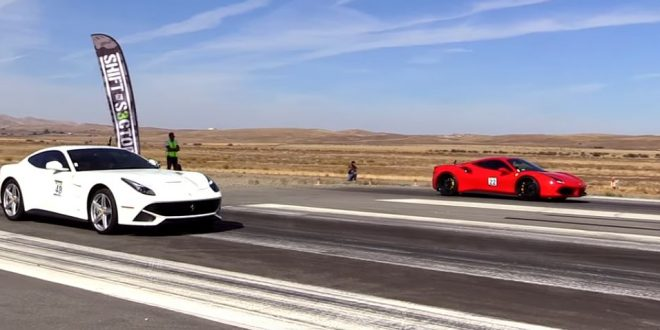 Video: Dragrace – Ferrari F12 Berlinetta gegen Ferrari 488 GTB