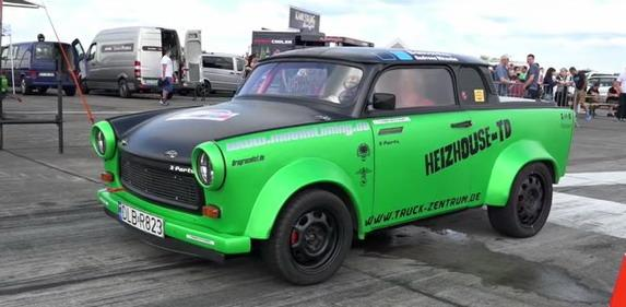 180PS Dieselpower Trabbi Trabant 601 Turbo Video: 180PS Dieselpower im Trabbi? Trabant 601 Turbo