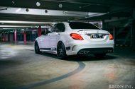 20 Zoll AGL19 Felgen Tuning W205 Mercedes Benz C63 AMG 6 190x126 Dezente 20 Zoll AGL19 Felgen am Mercedes Benz C63s AMG