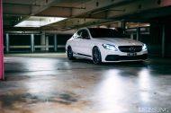 20 Zoll AGL19 Felgen Tuning W205 Mercedes Benz C63 AMG 8 190x126 Dezente 20 Zoll AGL19 Felgen am Mercedes Benz C63s AMG