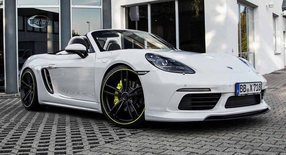 2016 porsche boxster techart tuning bodykit 1 Genug   Bodykit & 400PS im Techart Porsche Boxter (Typ 718)