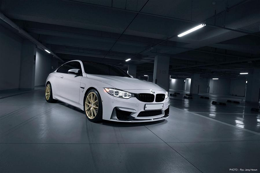 Alpine White Bmw M4 F82 Coupe With Understated Tuning Parts