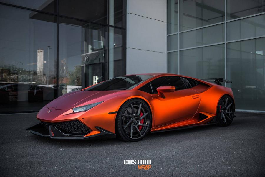 Burnt Orange Chrome Satin Lamborghini Huracan Tuning 1 Zacoe Lamborghini Huracan mit Fi Exhaust & neuen Alu's