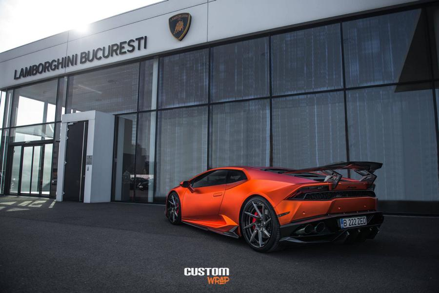 Burnt Orange Chrome Satin Lamborghini Huracan Tuning 5 Zacoe Lamborghini Huracan mit Fi Exhaust & neuen Alu's