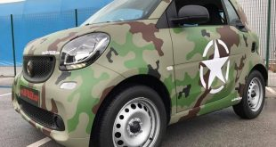 Camouflage Folierung Smart ForTwo Tuning 2016 17 310x165 VW Golf GTI in Ultra Rot X.matt by BB Folien Bele Boštjan
