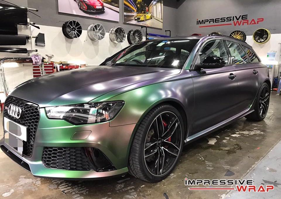 Colorflow Audi RS6 folierung wrap tuning 10 Farbwechsel ist IN   Impressive Wrap Audi RS6 C7 Avant